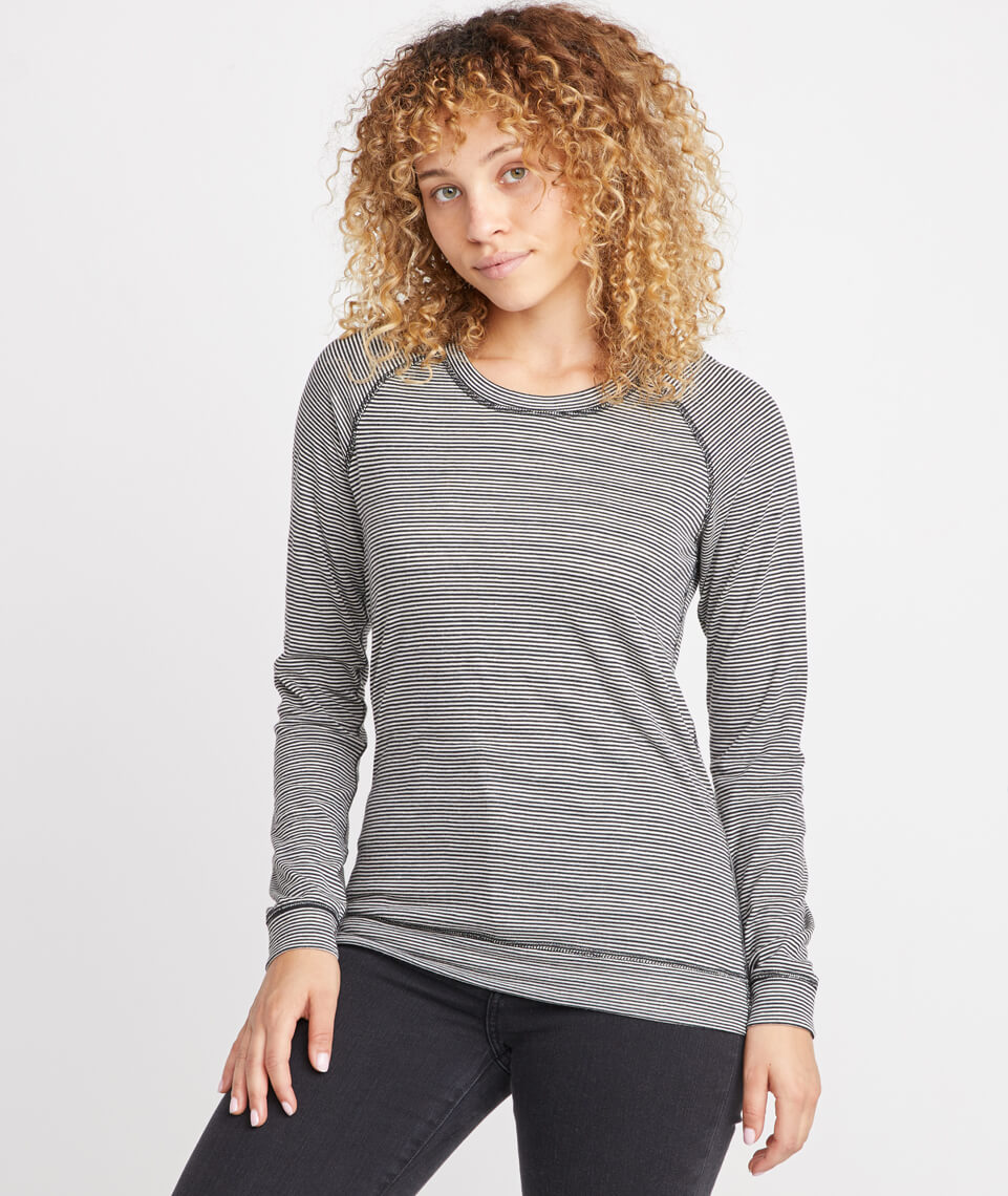 Reversible Raglan in Graphite/Natural