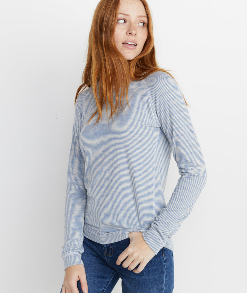 Radley Reversible Raglan in Natural/Faded Denim