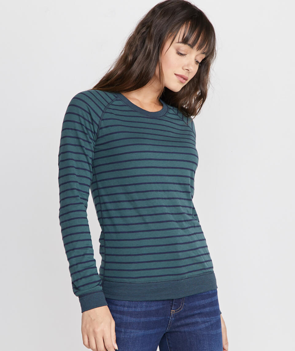 Reversible Raglan in Pine Grove/Navy