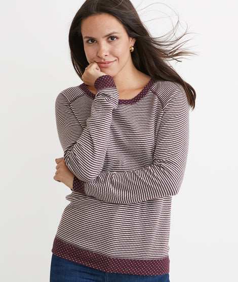 Reversible Raglan in Tawny Port