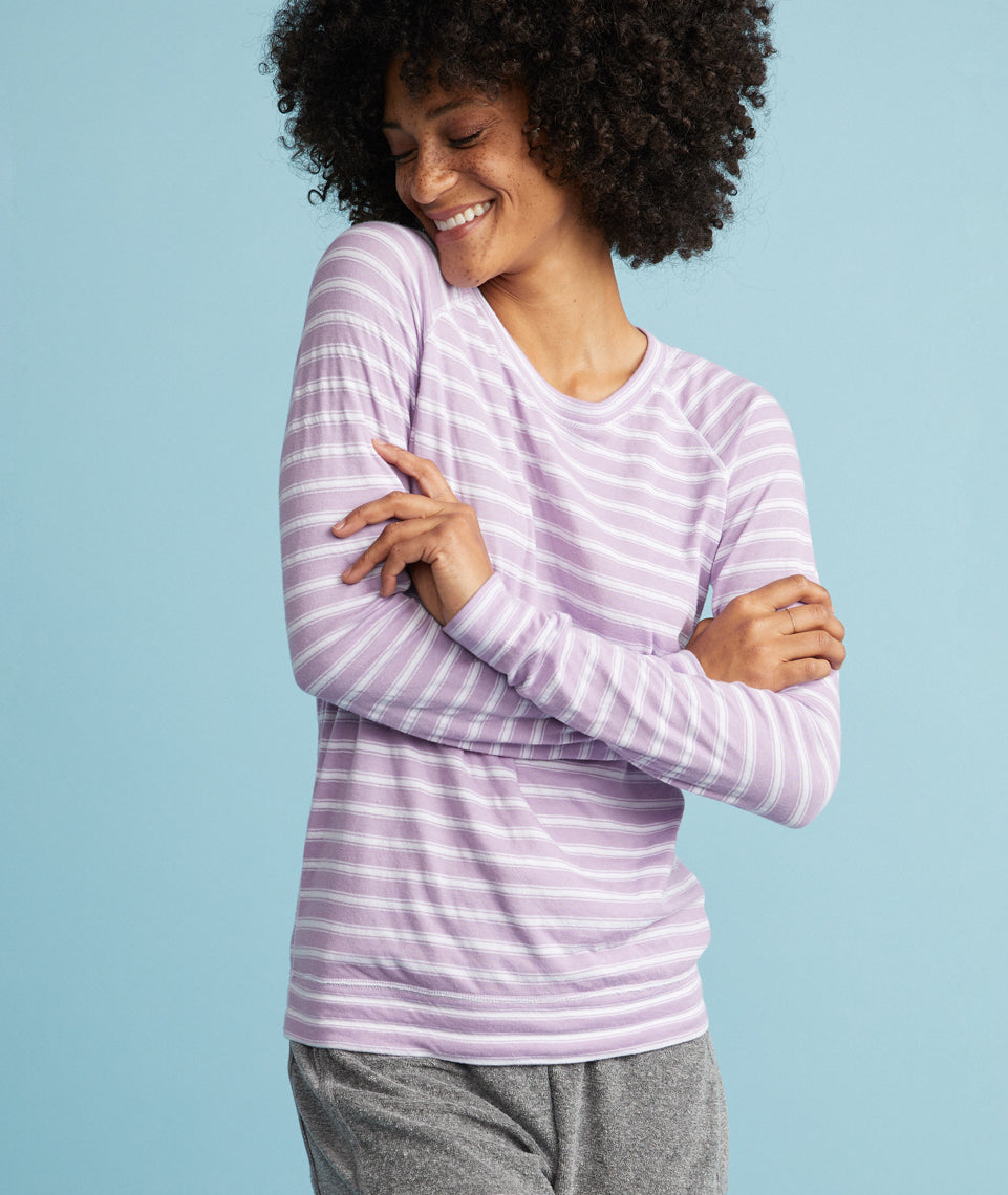 Reversible Raglan in Lilac Stripe