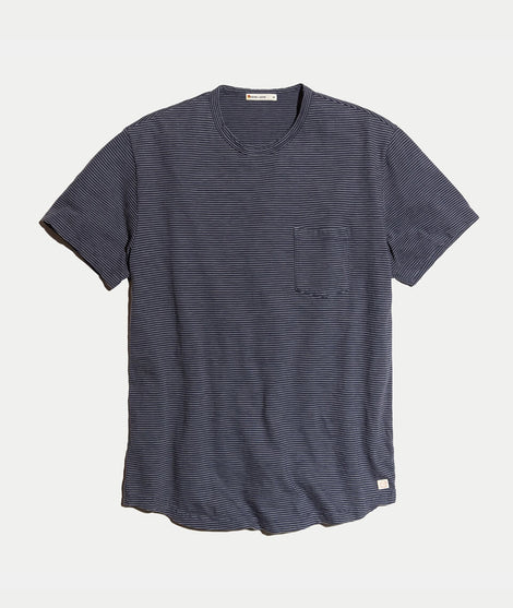 Saddle Pocket Tee in Ink