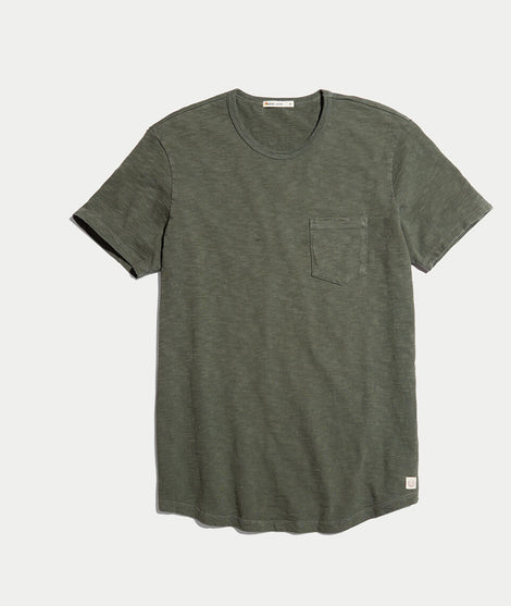 Saddle Pocket Tee in Moss