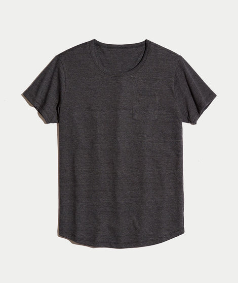 Saddle Pocket Tee in Charcoal