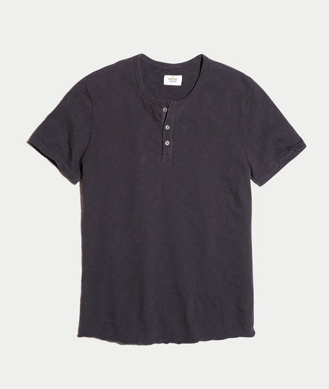 Shortsleeve Henley in Graphite
