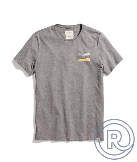 Re-Spun Sierra Club Giving Tee in Heather Grey