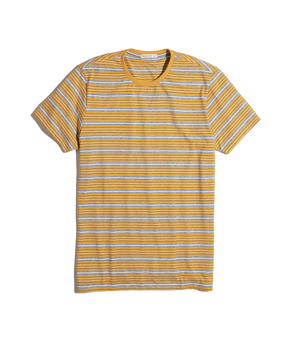 Signature Crewneck in Yellow Stripe
