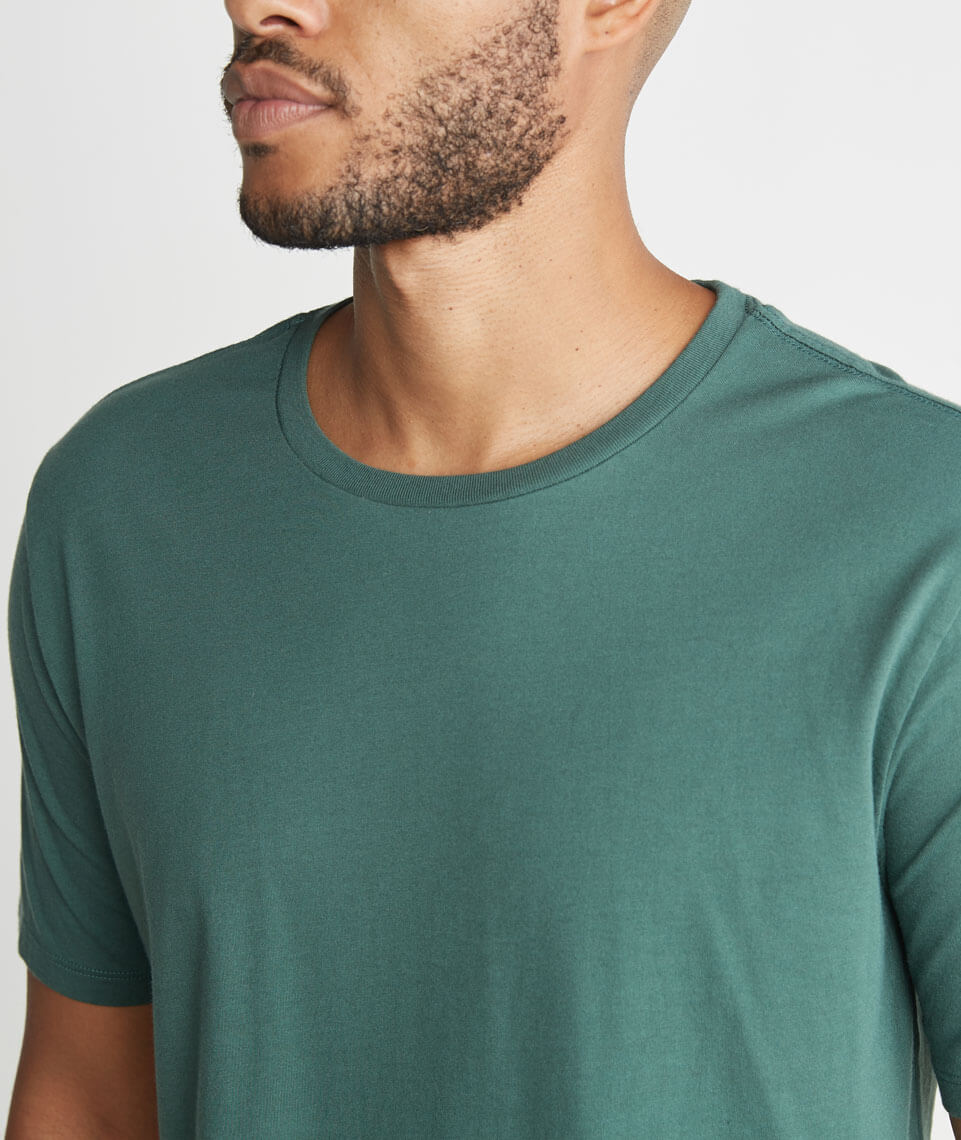 Signature Crewneck in Forest Green