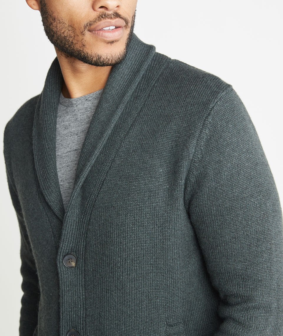 Connery Cardigan in Forest Green