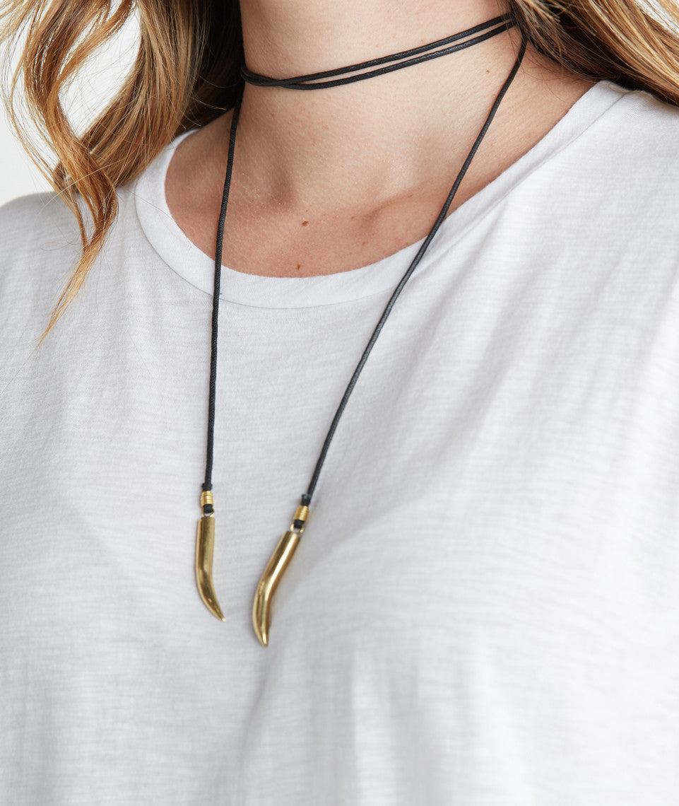 Soko Talon Cord Lariat Necklace