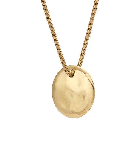 Soko Ripple Disc Pendant Necklace