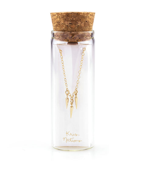 Kris Nations 3 Petite Spike Necklace