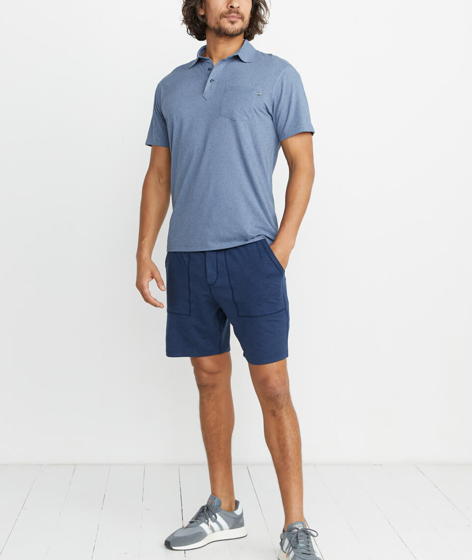 Palmer Sport Polo in Navy Heather