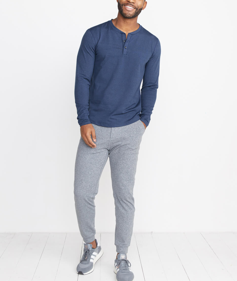 Sport Henley in Navy