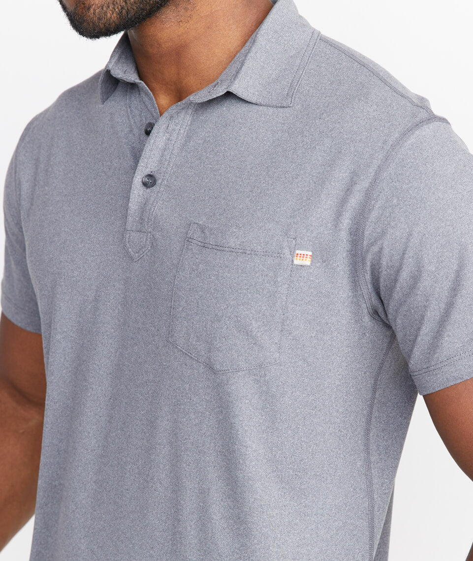 Sport Polo In Iron Gate Marine Layer