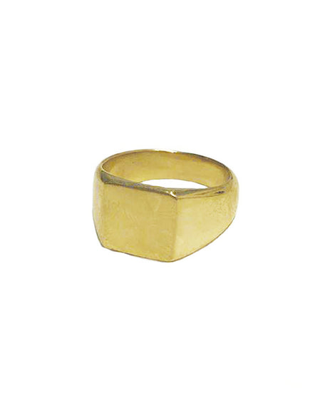 Soko Square Signet Pinky Ring