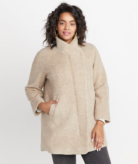 Stephanie Cocoon Coat in Sand