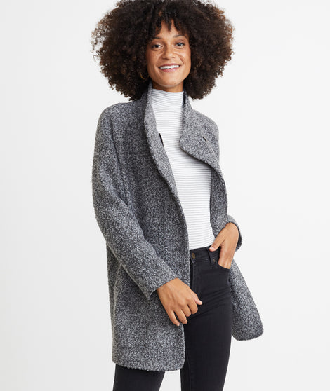 Stephanie Cocoon Coat in Ash Heather