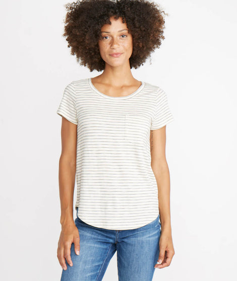 Boyfriend Saddle Tee in Natural
