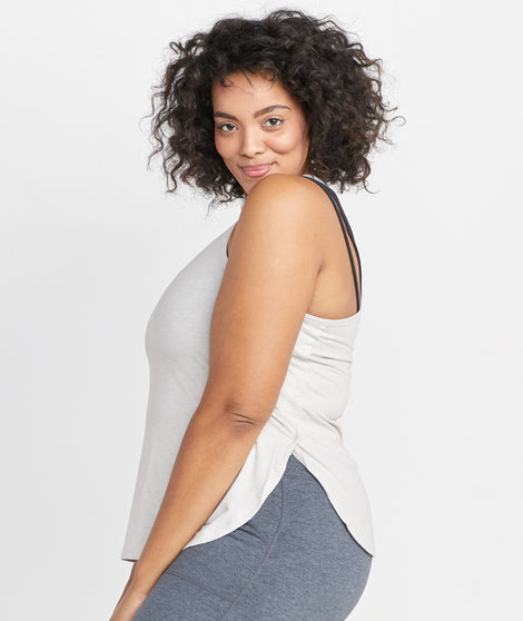 Suki Sport Tank in Oatmeal Heather