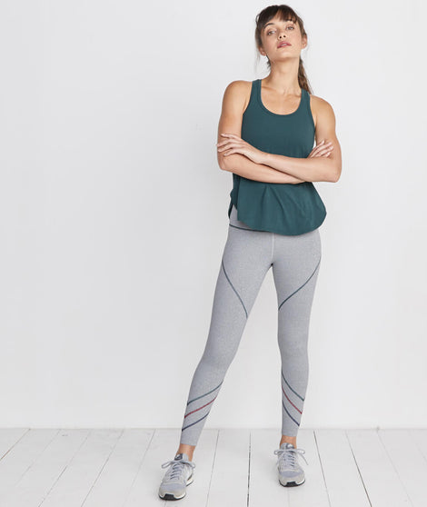 Mia Sport Legging in Ash Grey