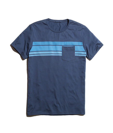 Sunset Stripe Pocket Tee
