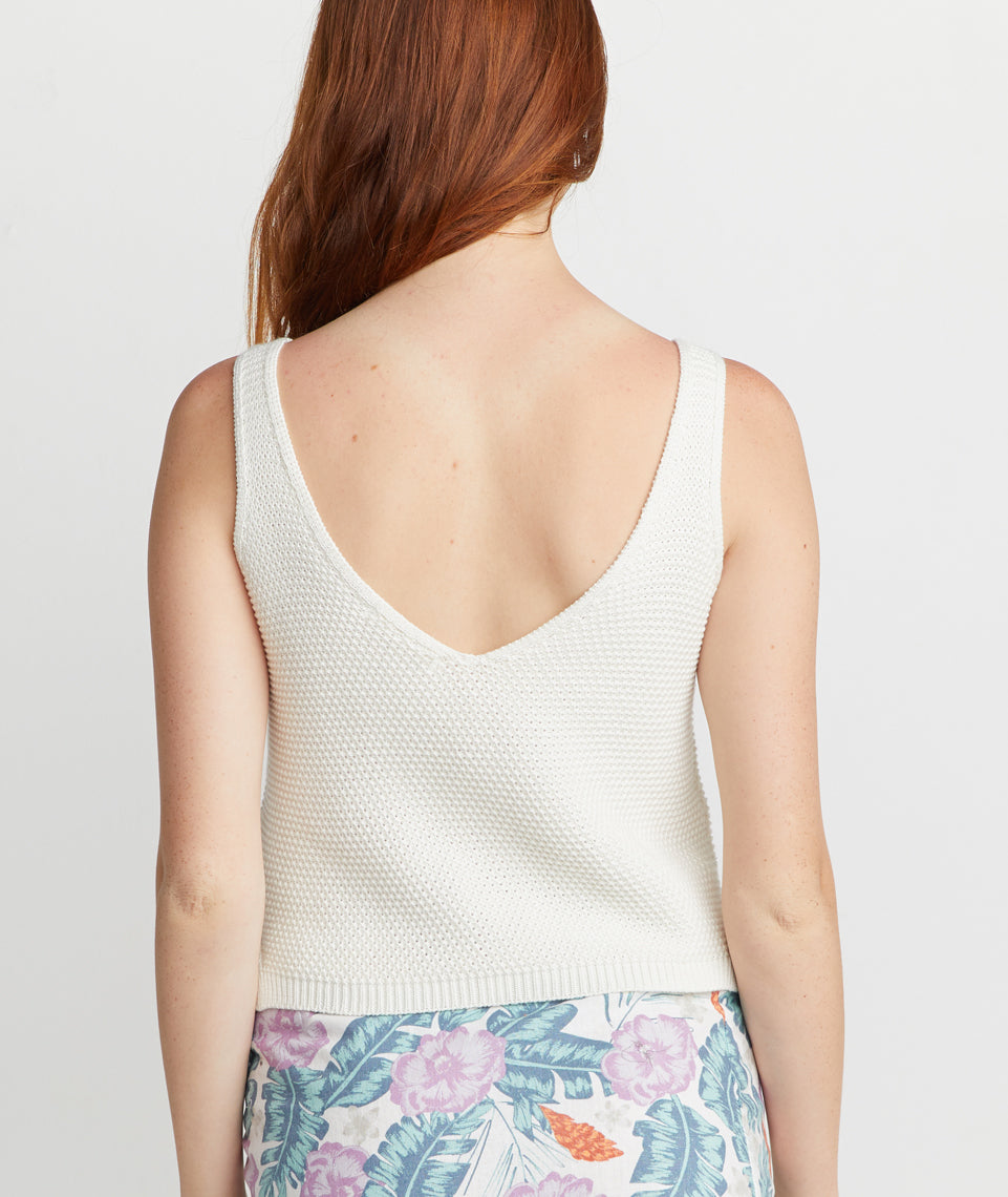 Finley Sweater Tank Antique White