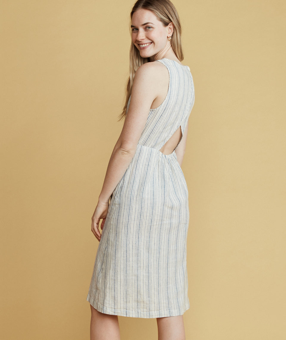 Tenley Skirt Dress in Moonlight Stripe