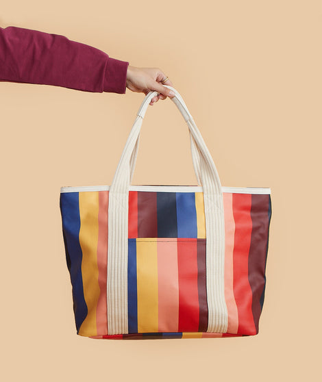 Re-Spun Tote in Multi Stripe