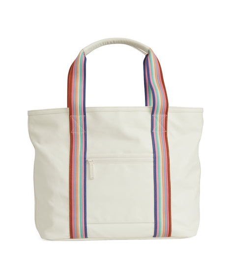 Tote in Natural/Bold Multi Stripe