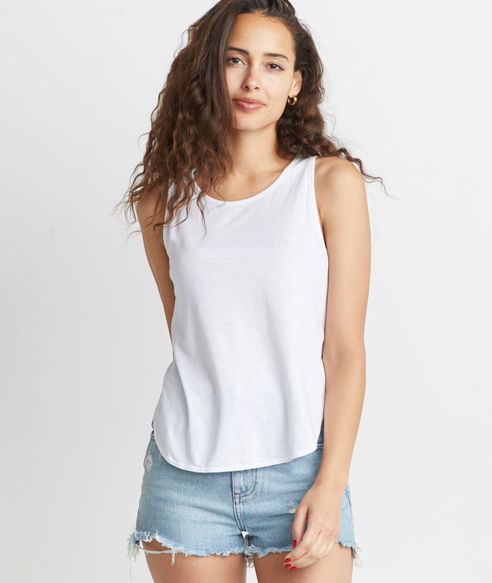 Side Tulip Tank in White