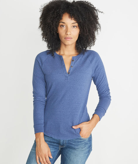 Double Knit Henley in Twilight