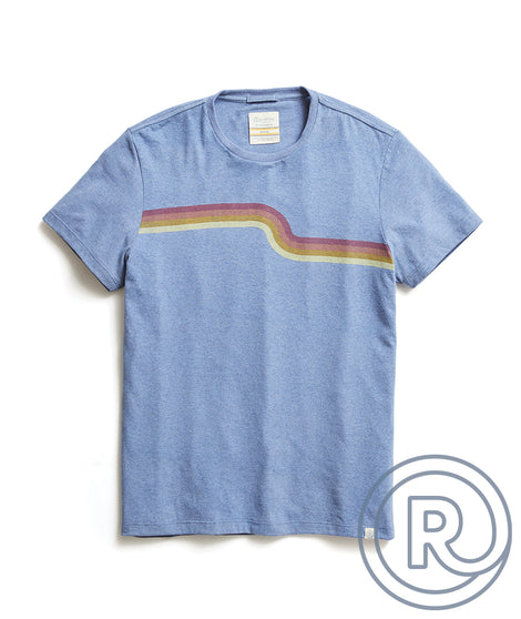 Re-Spun Wave Stripe Tee