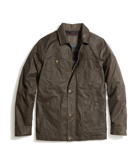 Waxed Field Coat in Brown