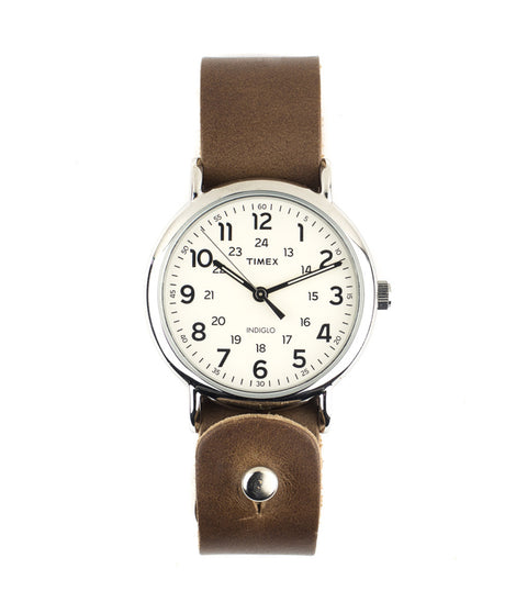 Timex Weekender 40mm with Dark Tan Band