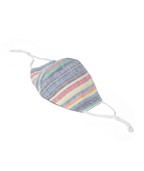 Woven Mask in Multi Stripe
