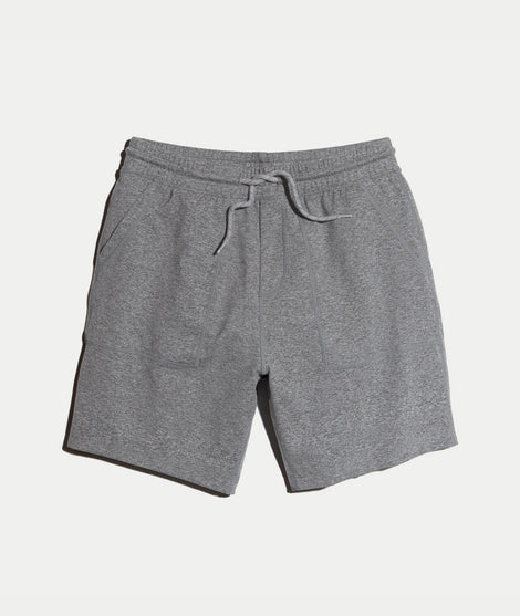 Yoga Short in Mid Heather Grey