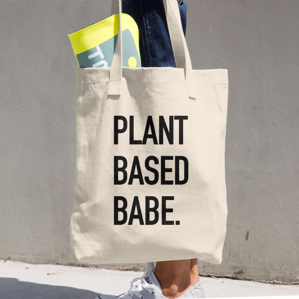 Plant-Based Babe Cotton Tote + Shopping Bag
