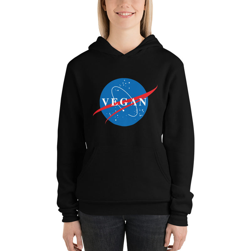 Nasa Spin-Off Unisex Fleece Hoodie in Black