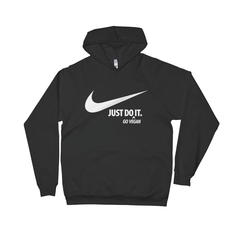 Just Do It (Go Vegan) Unisex 100% Fleece Cotton Hoodie