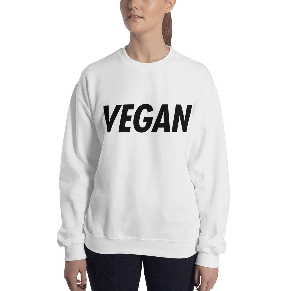 VEGAN: Trying to Suck Less (on back) Unisex Sweatshirt Black Print