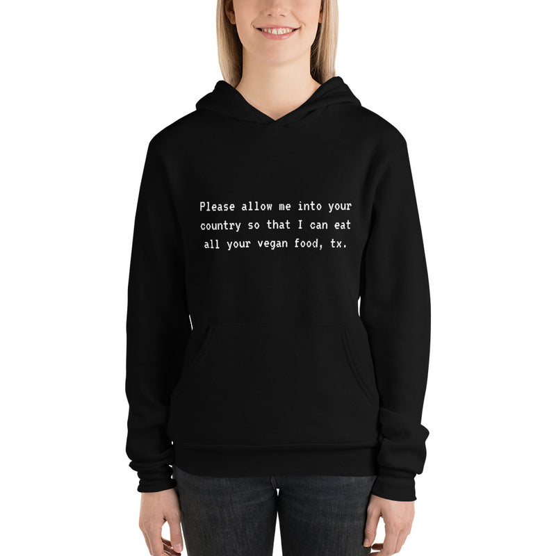 The Traveller's Request Fleece Unisex Hoodie