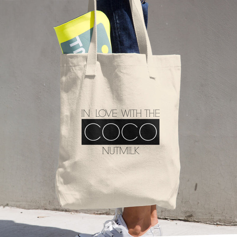 In Love With The CocoNutMilk Cotton Tote + Shopping Bag