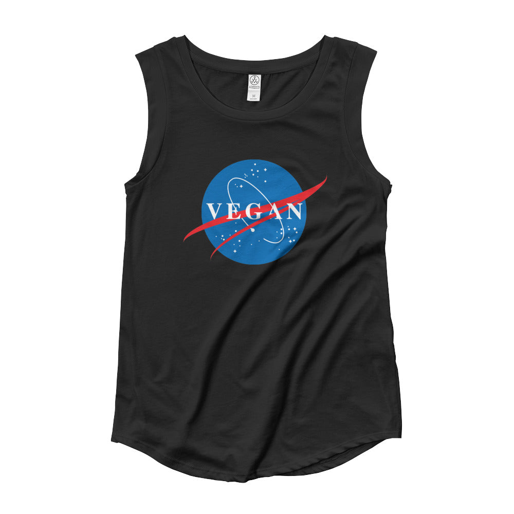 Nasa Spin-Off Ladies' Cap Sleeve Tank-Tee