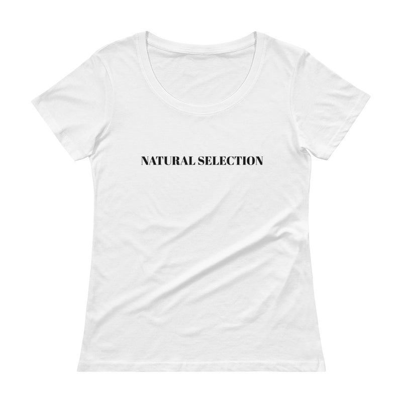 Natural Selection Ladies' Scoopneck T-Shirt (Black Print)