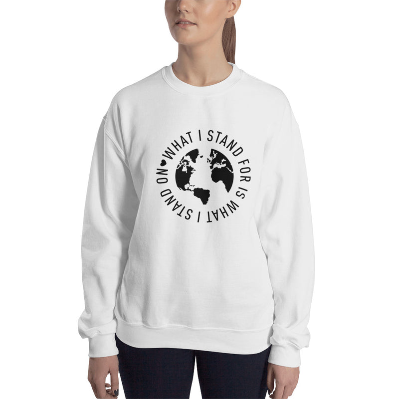What I Stand For Full Circle Black Print Sweatshirt (Unisex)