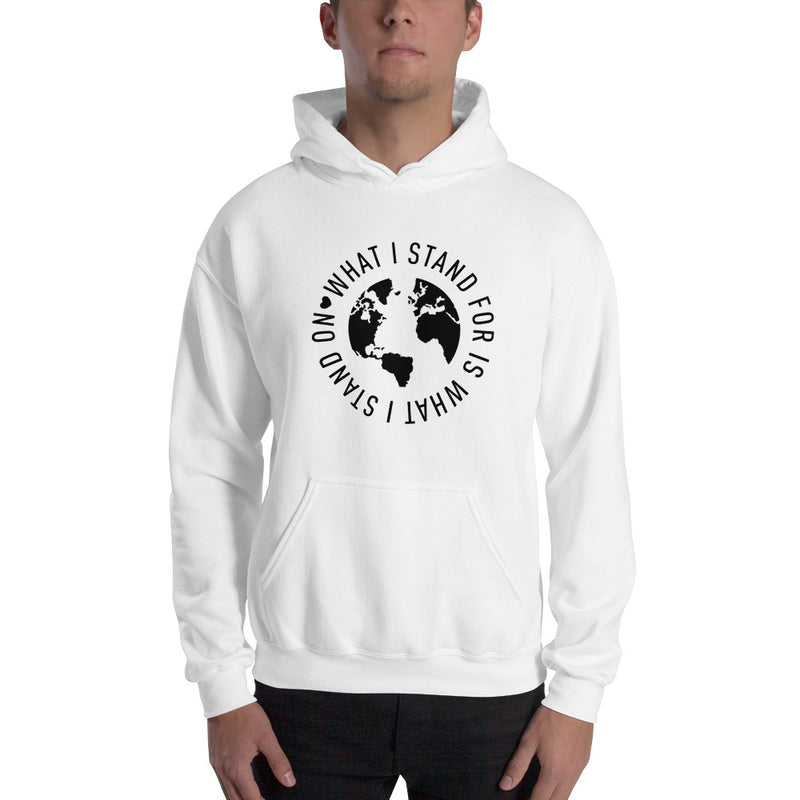 What I Stand On Black Print Hooded Sweatshirt (Unisex)