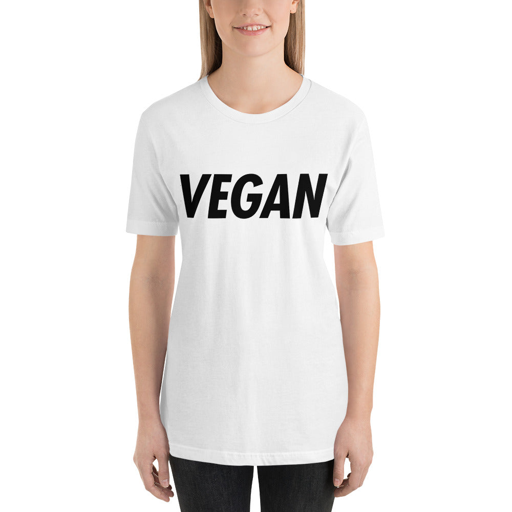 VEGAN: Trying to Suck Less (on back) Black Print Unisex Tee