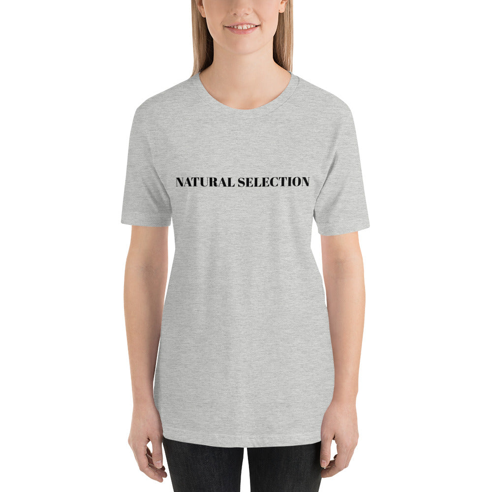 Natural Selection Short-Sleeve Unisex Tee (Black Print)