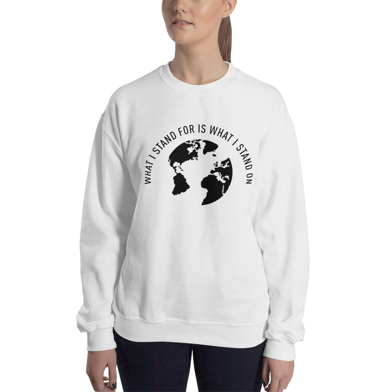 What I Stand For Half Moon Black Print Sweatshirt (Unisex)